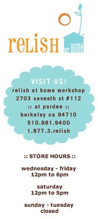 Relish store hours
