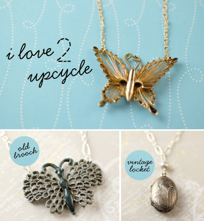 Upcycle butterfly